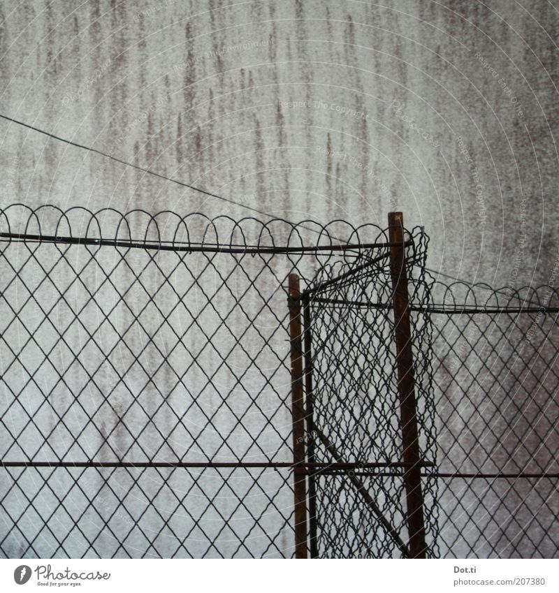 Old Wall (building) Wall (barrier) Building Metal Facade Border Fence Captured Barrier Block Pattern Boundary Real estate Enclosed Wire netting fence