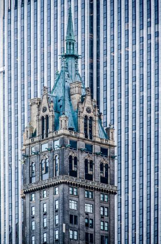 Kitsch | more quiet simplicity than noble size Sightseeing City trip New York City Manhattan Downtown High-rise Tower Manmade structures Architecture Facade