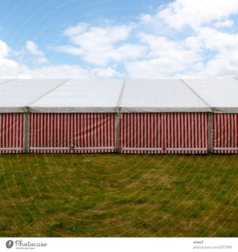 marquee Line Stripe Stand Sharp-edged Simple Retro Red White Calm Tent Beer tent Lawn Covers (Construction) Colour photo Multicoloured Exterior shot