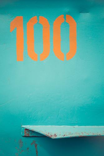 things Container Metal Steel Rust Sign Digits and numbers Signs and labeling Blue Orange Turquoise Design Colour Advertising 100 Bulge Background picture