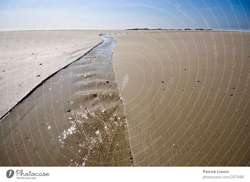 waterway Environment Nature Landscape Elements Earth Sand Air Water Sky Cloudless sky Horizon Summer Climate Weather Beautiful weather Coast Beach North Sea