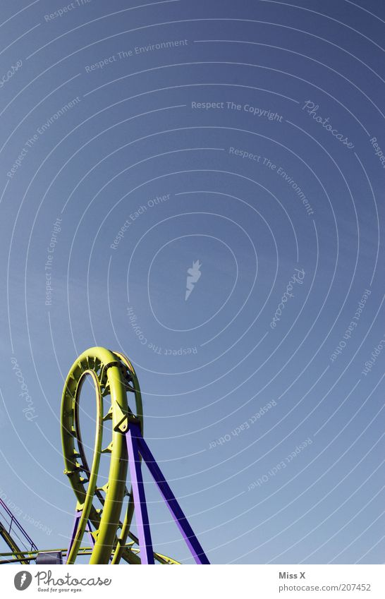 Feasts & Celebrations Fear Leisure and hobbies Tall Round Driving Fairs & Carnivals Cloudless sky Blue sky Roller coaster