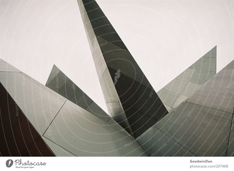Architecture Building Art Elegant Design Esthetic Authentic New Exceptional Point Manmade structures Steel Bizarre Upward Geometry