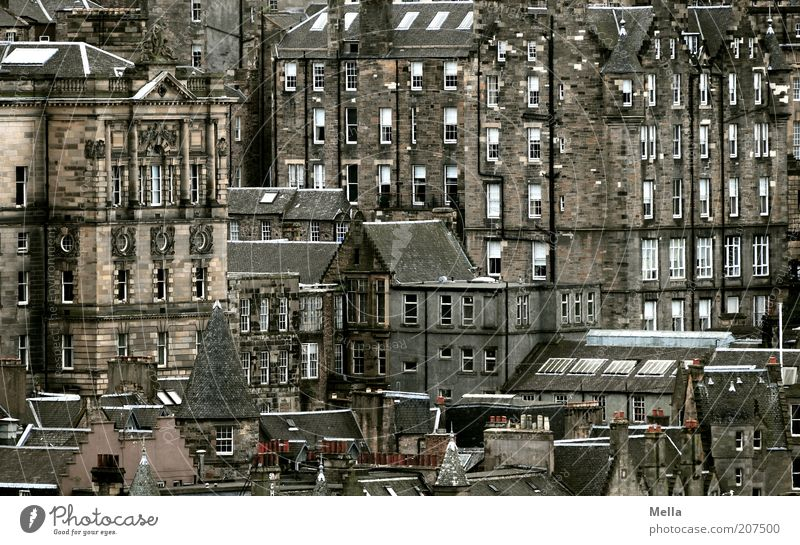 Over the rooftops of Scotland (3) Edinburgh Great Britain Europe Town Downtown Old town House (Residential Structure) Manmade structures Building Architecture
