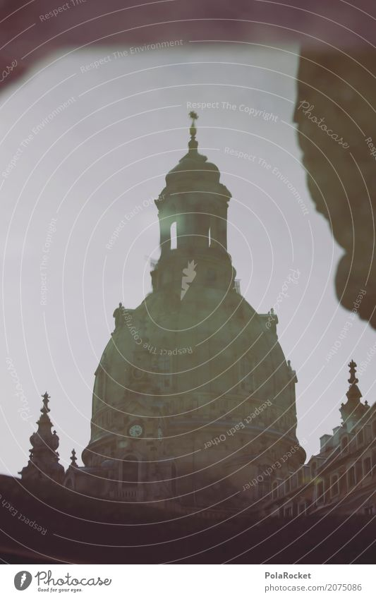 #A# Dresden Old Lady Facade Culture Frauenkirche Domed roof Reflection Historic Historic Buildings Renewal Baroque Tourist Attraction City trip Water