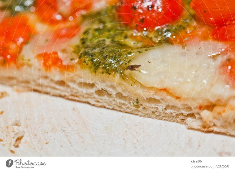 enjoy your meal Food Dough Baked goods Nutrition Lunch Dinner Vegetarian diet Fast food Italian Food Delicious Pizza Tomato Mozzarella Italien pesto Appetite
