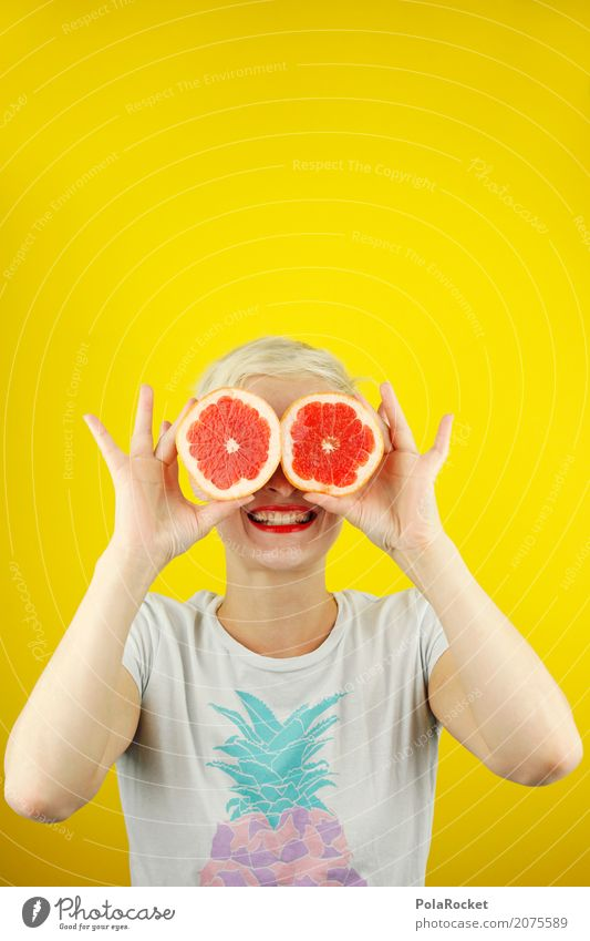 #A# Good for the eyes! Art Work of art Esthetic Crazy blood orange Orange Eyes Joy Comical Funster The fun-loving society Absurdity Advertising