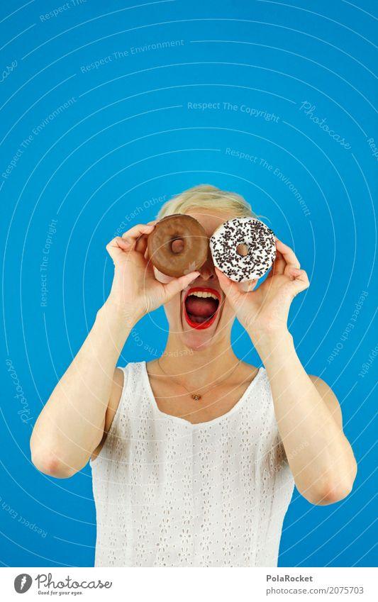 #A# like now Art Work of art Esthetic Crazy Woman Scream Joy Comical Funster The fun-loving society Absurdity Eye-catcher Fast food Unhealthy Nutrition Sugar