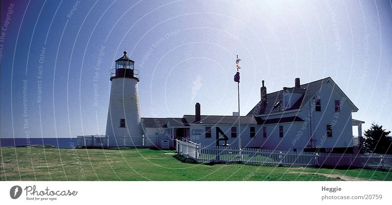 lighthouse Lighthouse New England Maine North America Blue sky