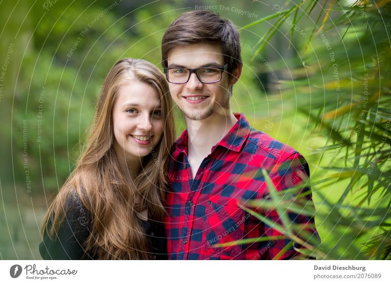 Human being Nature Youth (Young adults) Young woman Summer Young man 18 - 30 years Adults Spring Love Feminine Happy Garden Together Friendship Masculine