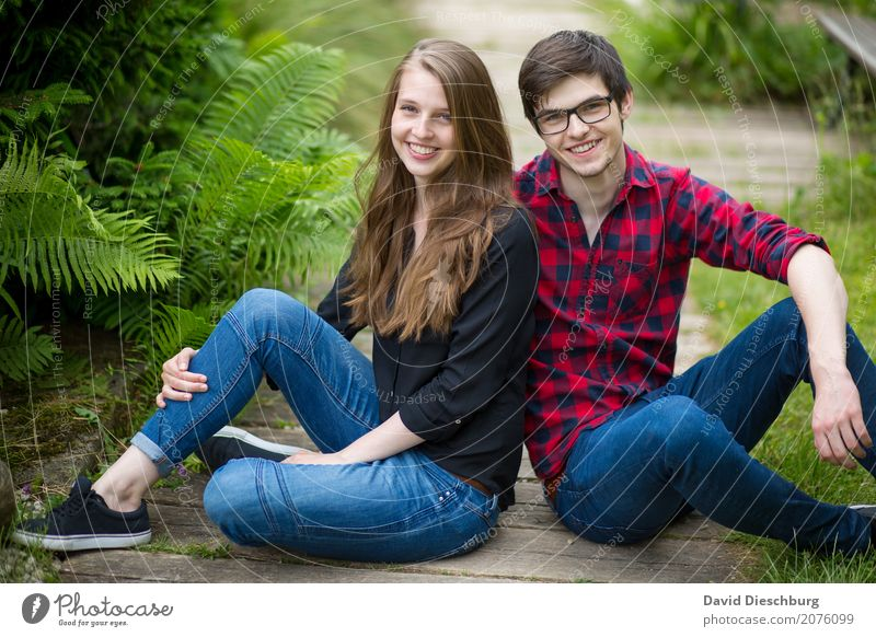 Katharina & Patrick Masculine Feminine Young woman Youth (Young adults) Young man Couple Life 2 Human being 18 - 30 years Adults Nature Spring Summer