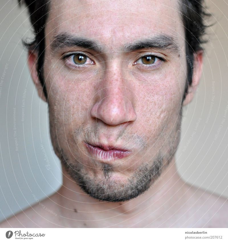 Monday Portrait 03 Beautiful Face Masculine Young man Youth (Young adults) Life Skin Eyes 18 - 30 years Adults Think Looking Exceptional Brash Natural Emotions