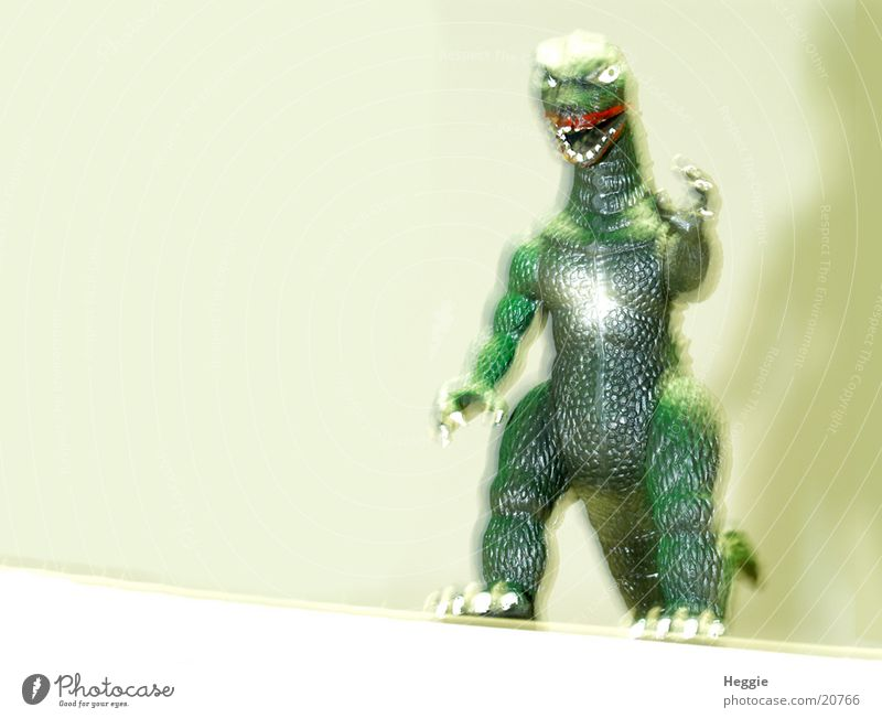 Godzilla Film star Monster Things green animal Blur