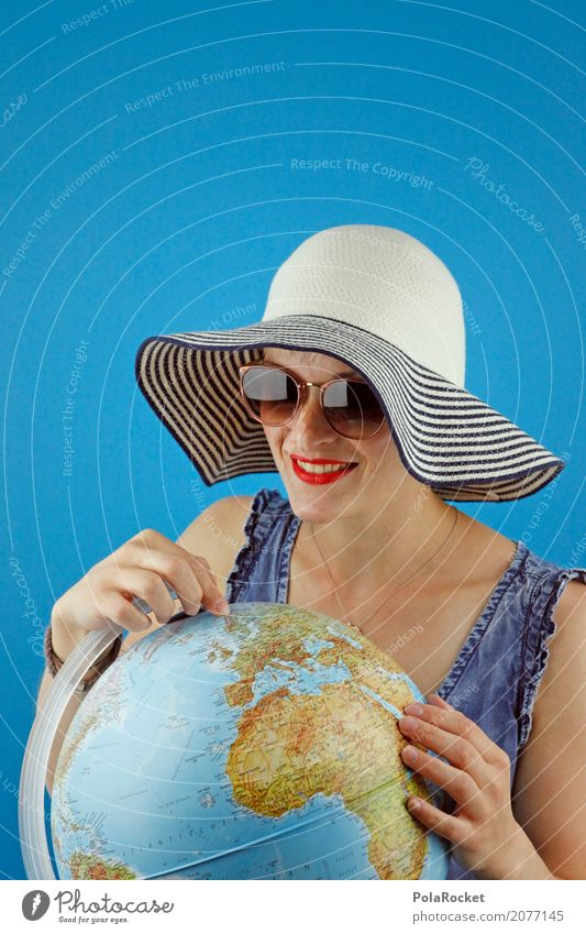 Human being Vacation & Travel Ocean Tourism Earth Esthetic Eyeglasses Target Wanderlust Hat Globe Sunglasses Continents Vacation photo Vacation mood