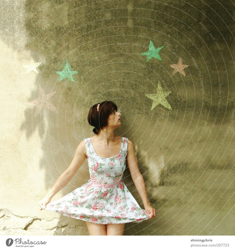 star thaler Happy Feminine Young woman Youth (Young adults) 1 Human being 18 - 30 years Adults Art Dance Ballet Beautiful weather Fashion Clothing Dress
