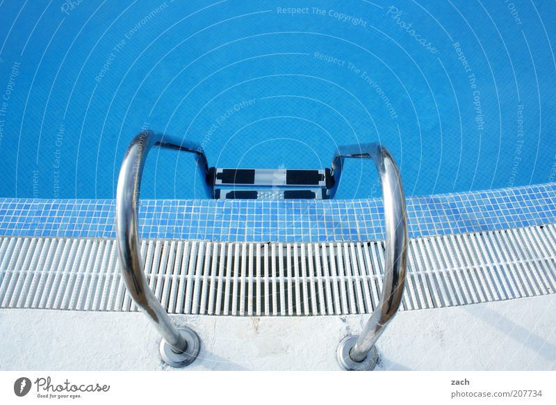 Water White Blue Vacation & Travel Metal Swimming pool Tile Summer vacation Open-air swimming pool Pool ladder Pool border