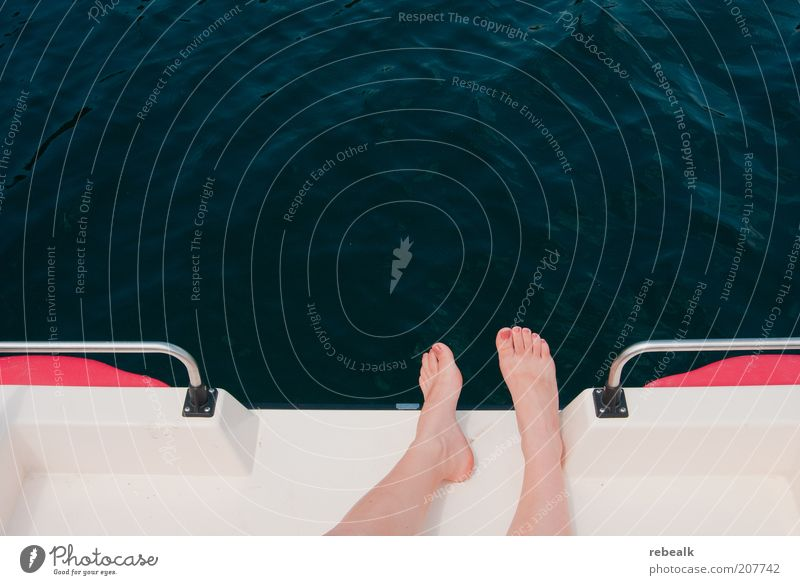 vacation Pedicure Cosmetics Wellness Harmonious Well-being Relaxation Calm Summer Summer vacation Sun Sunbathing Feet Lie Freedom Leisure and hobbies