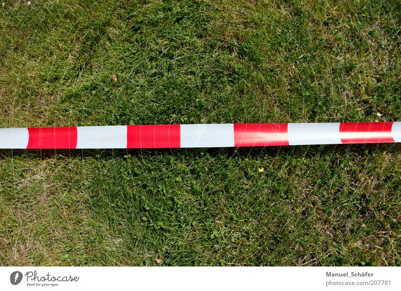 Red Meadow Line Signs and labeling Safety Lawn Stop Stripe String Border Barrier Contrast Bans Warning label Block