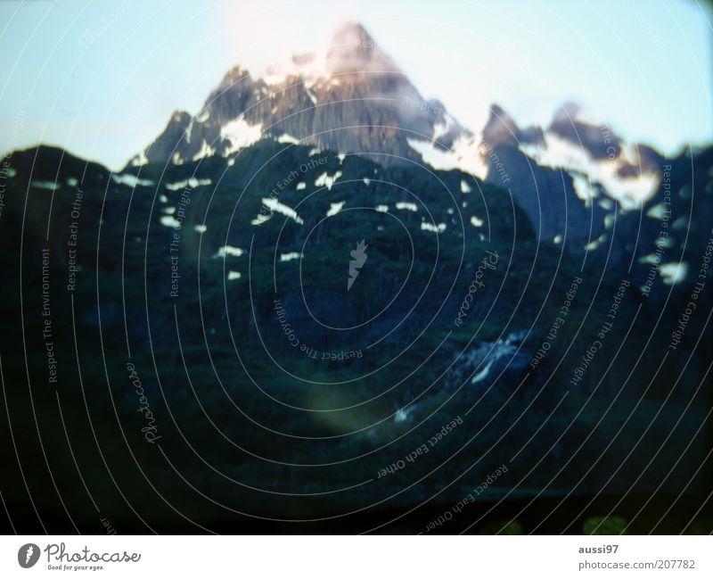 Sky Vacation & Travel Black Dark Snow Mountain Peak Snowscape Snow mountain