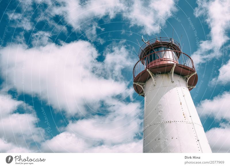 Lighthouse in List on Sylt Vacation & Travel Trip Far-off places Freedom Ocean Island Nature Water North Sea Long Maritime Blue Nostalgia Perspective Rescue