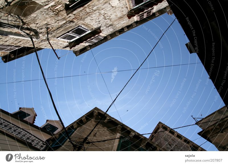 hole in the sky in šibenik Sky Cloudless sky Weather Beautiful weather Croatia Europe Balkans Town House (Residential Structure) Building Architecture