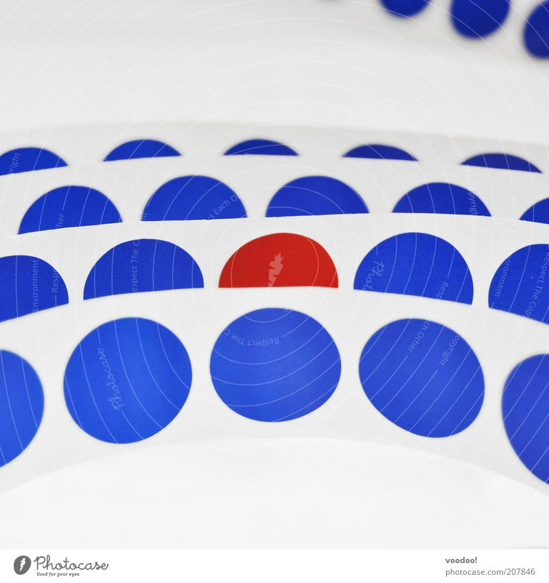 Blue White Red Exceptional Circle Uniqueness Symbols and metaphors Point Plastic Attachment Row Label Foreign Identity System Integration