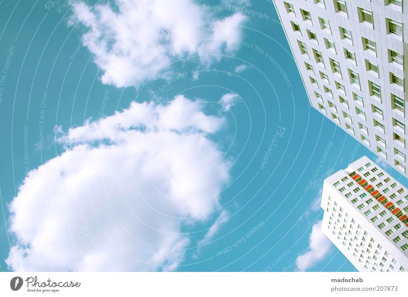 Sky City Clouds Colour Life Berlin Style Window Building Bright Architecture Design Elegant High-rise Facade