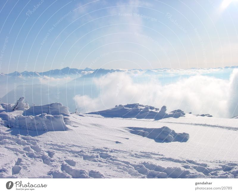 Sky White Clouds Snow Mountain Glacier Sports