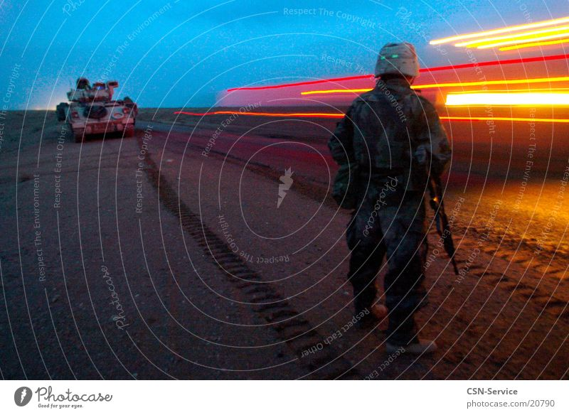 Man War Soldier Military Tank Iraq Convoy
