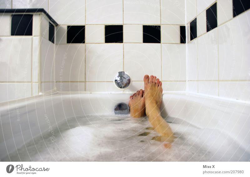Water Beautiful White Calm Black Relaxation Feminine Feet Legs Contentment Moody Wellness Break Bathroom Swimming & Bathing Tile