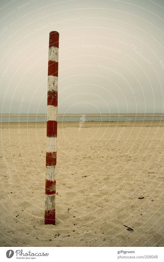 Nature Water Sky White Red Beach Loneliness Sand Landscape Coast Environment Signs and labeling Stand Thin Stripe Elements