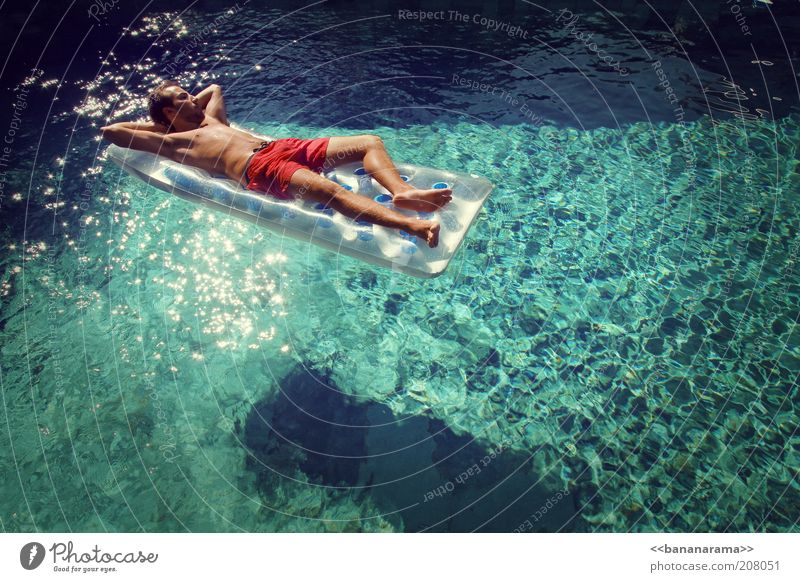 Human being Youth (Young adults) Water Beautiful Adults Relaxation Style Elegant Swimming & Bathing Masculine Sleep Posture Wellness Swimming pool 18 - 30 years Rich