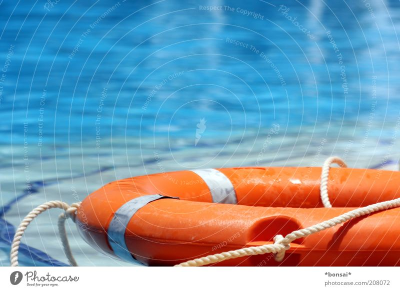Blue Vacation & Travel Relaxation Orange Rope Help Safety Swimming pool Lie Leisure and hobbies Protection Firm Illuminate Testing & Control