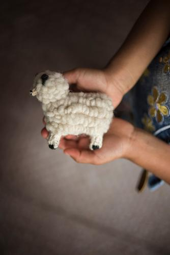 Child keeps small wool sheep Parenting Education Kindergarten Study Infancy Hand 3 - 8 years Leisure and hobbies Joy Help Hope Creativity Wool Sheep Toys Knit