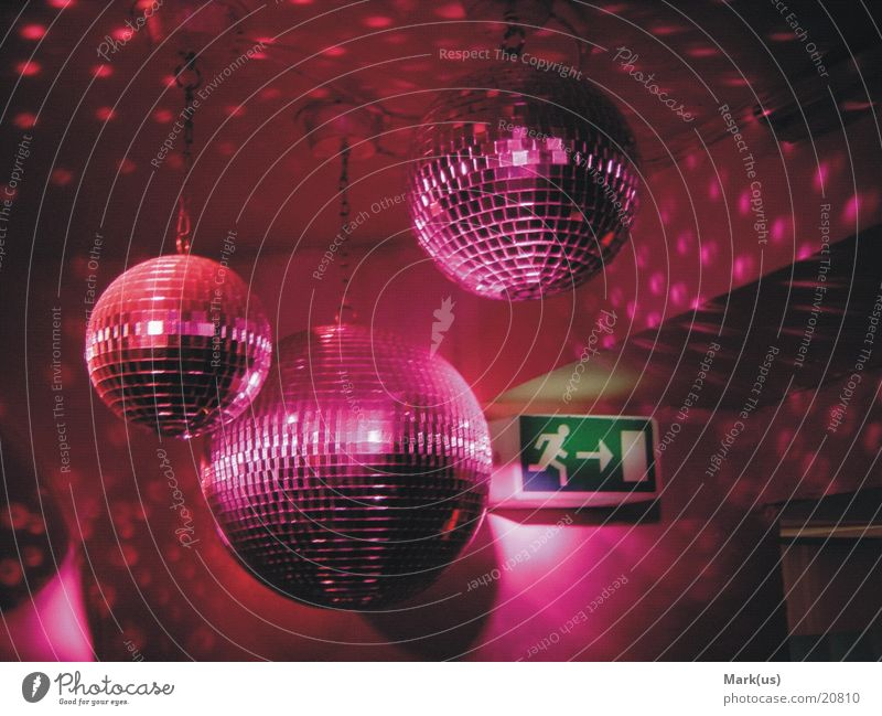 Pink disco balls Disco ball Club Photographic technology Colour Party