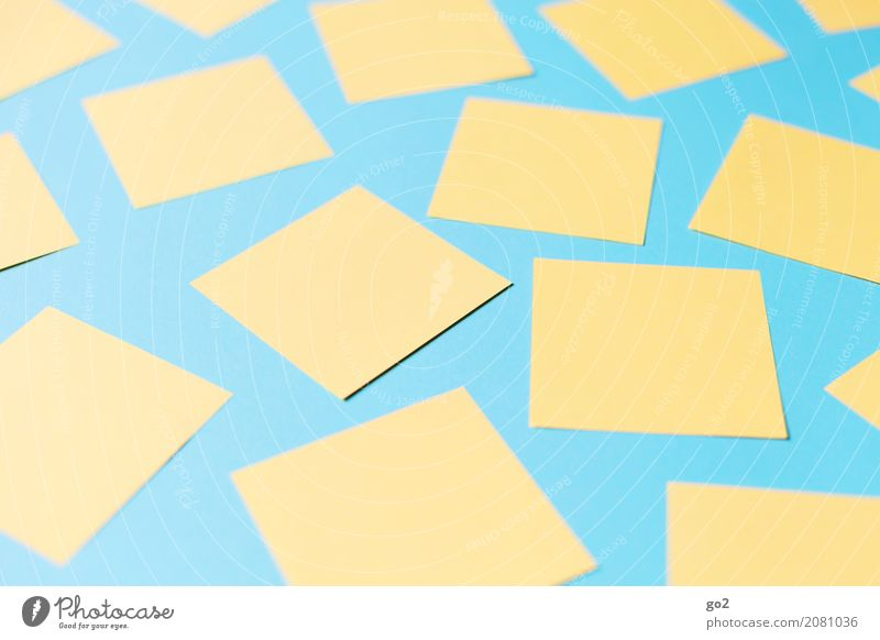 planning matter School Study Academic studies Office work Workplace Advertising Industry Career Meeting Stationery Paper Piece of paper Many Blue Yellow