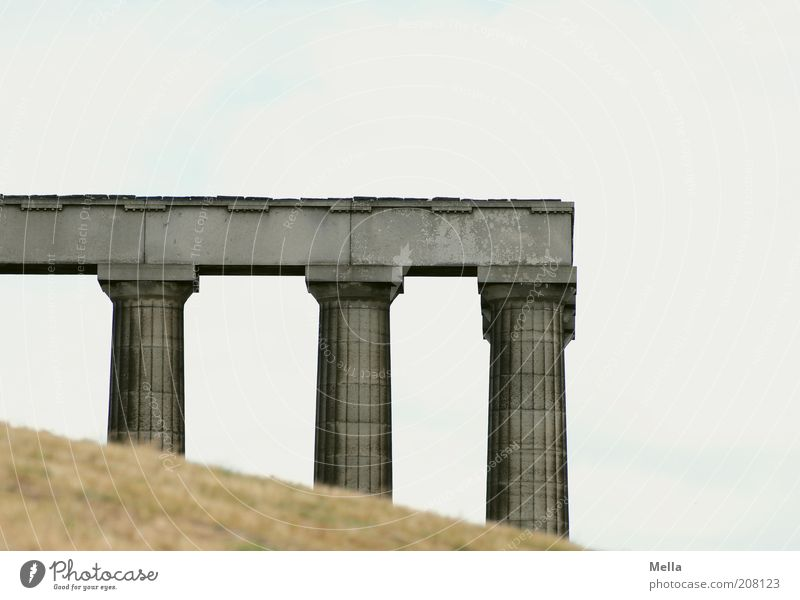 Old Vacation & Travel Gray Art Architecture Time Europe Esthetic Stand Culture Monument Past Manmade structures Column Sightseeing