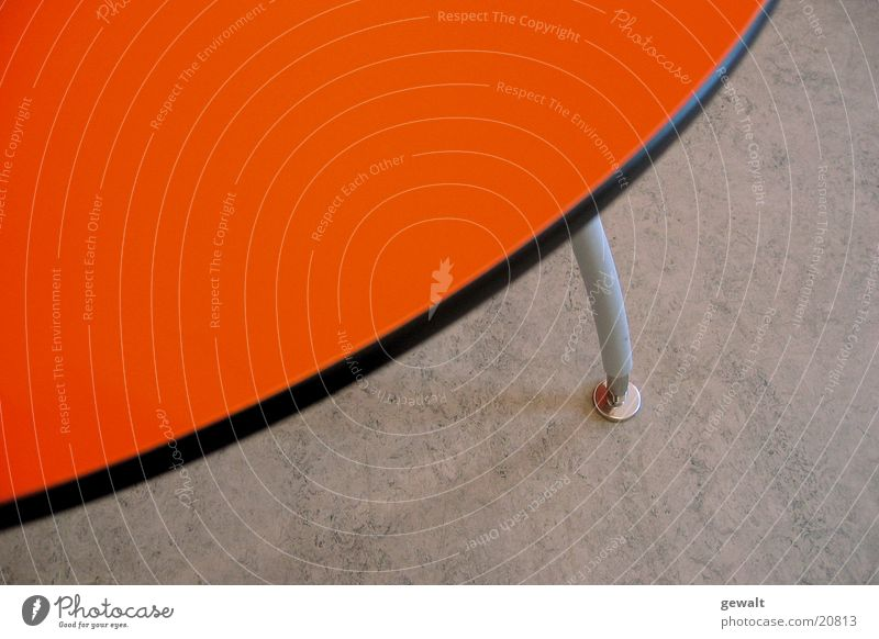 Orange Table Oval Tabletop Floor covering table leg Circle linoleum floor