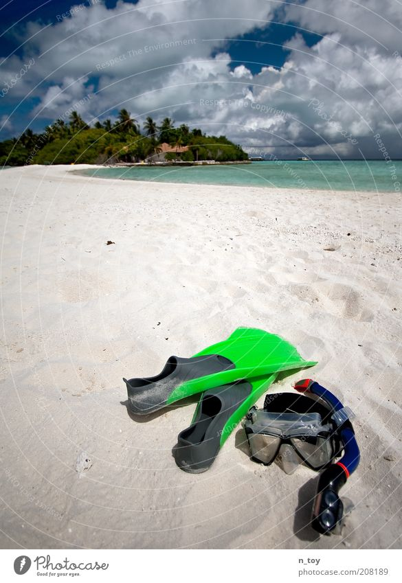 Nature Water Ocean Blue Summer Beach Vacation & Travel Calm Loneliness Freedom Dream Sand Landscape Environment Island