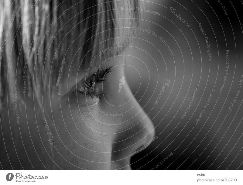 Child Calm Eyes Dream Head Blonde Portrait photograph Longing