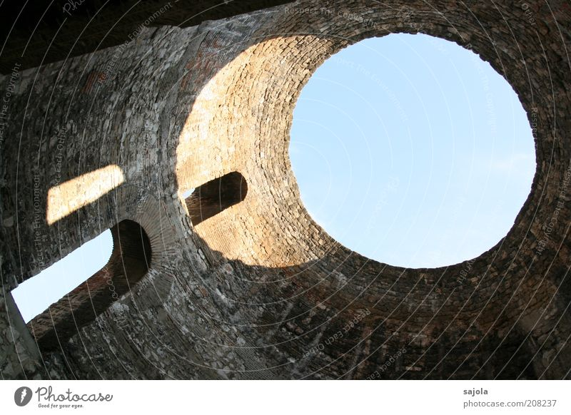 light design Sky Cloudless sky Beautiful weather Split Croatia Dalmatia Balkans Europe Old town Manmade structures Building Architecture Wall (barrier)