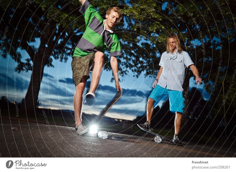 Human being Youth (Young adults) Summer Joy Sports Jump Playing Masculine Lifestyle Esthetic Cool (slang) Leisure and hobbies Asphalt Fitness