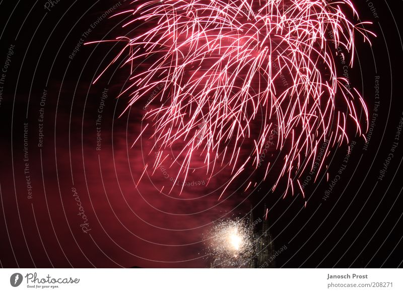 White Red Black Above Art Europe New Year's Eve Shows Infinity Illuminate Firecracker Cologne Event Silver Surprise Dome