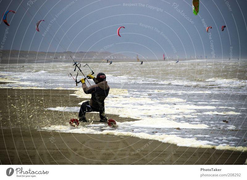 Water Sky Ocean Blue Beach Sports Pink Wind Large Speed Modern Driving Threat Fitness Wild