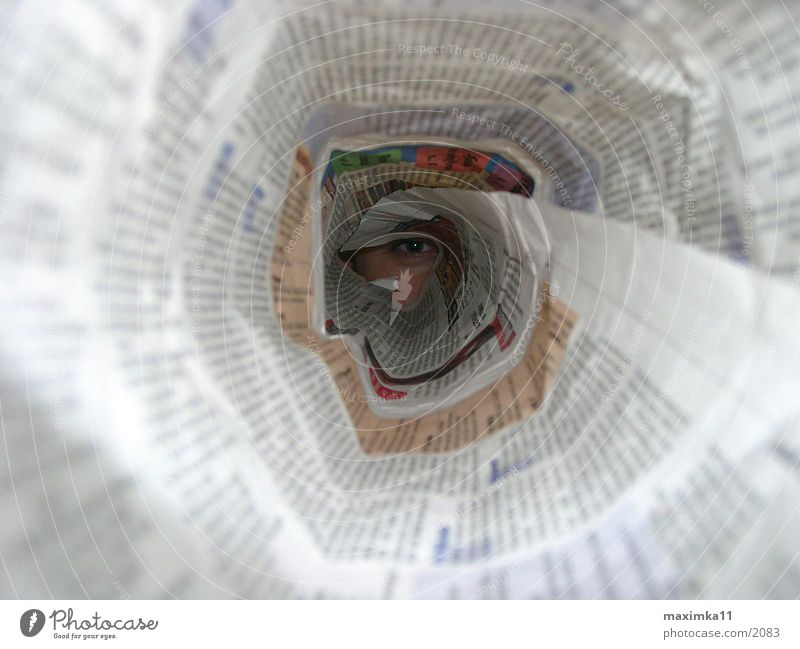 media company Newspaper Tunnel Photographic technology Eyes Pipe