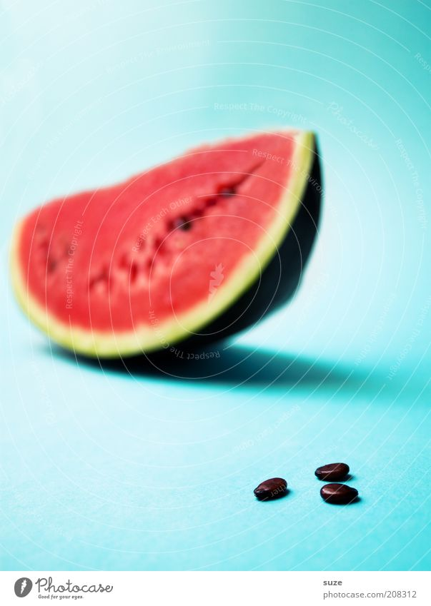 3 cores Food Fruit Nutrition Organic produce Vegetarian diet Diet Fresh Delicious Juicy Sweet Blue Red Appetite Water melon Melon Refreshment Fruit flesh