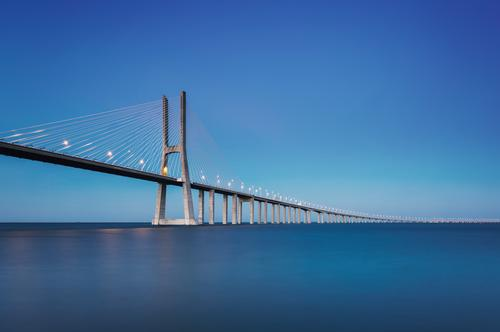Sky Blue Water Lanes & trails Horizon Large Bridge Tourist Attraction Manmade structures Portugal