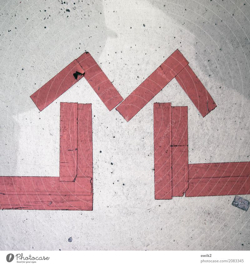 Red Gray Together Contentment Signs and labeling Simple Direction Mysterious Arrow Under Sharp-edged Identity Puzzle Rough Problem solving