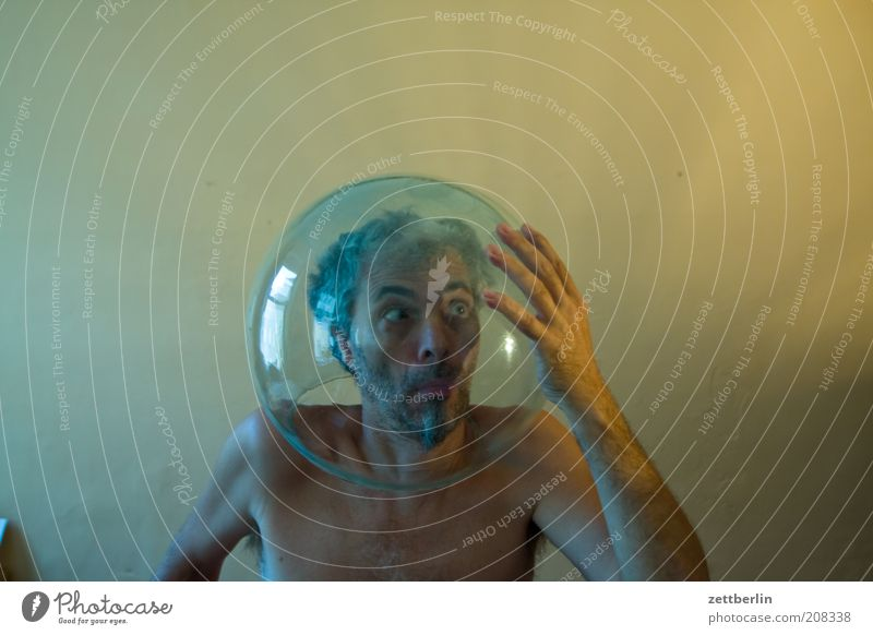 Man Hand Loneliness Face Adults Freedom Head Funny Room Glass Closed Exceptional Masculine Crazy Search Uniqueness