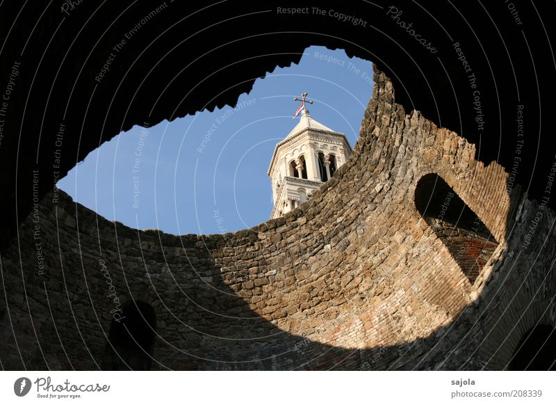 transparency Sky Cloudless sky Split Croatia Dalmatia Balkans Europe Southeastern Europe Port City Church Manmade structures Building Architecture